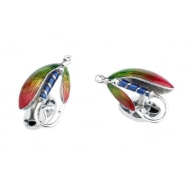 Deakin & Francis Silver Fly Fishing Cufflinks ~ C0572S2513