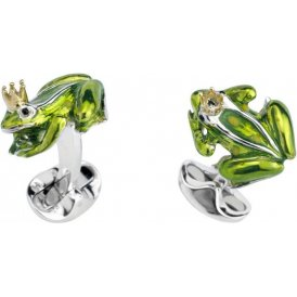 Deakin & Francis Silver Frog with Crown Cufflinks