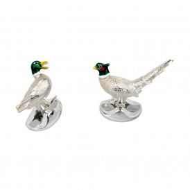 Deakin & Francis Silver Pheasant and Duck Cufflinks