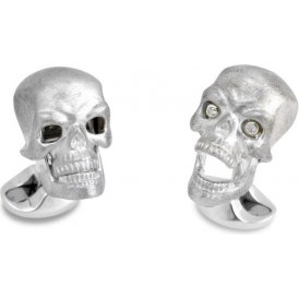 Deakin & Francis Skull Cufflinks with Diamond Eyes ~ C1585X0001