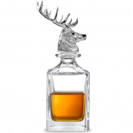 Deakin & Francis Stag Head Crystal Decanter ~ G06810001