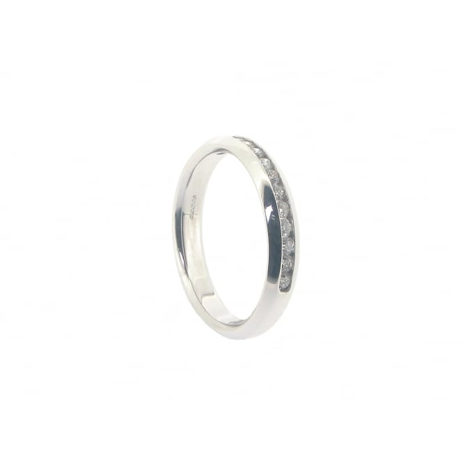 Diamonds 18ct White Gold 13-Stone Half-Eternity Diamond Ring ~ FEU