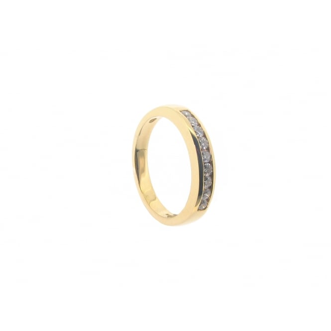 Diamonds 18ct Yellow Gold Half-Eternity Diamond Ring ~ 11952P16-29