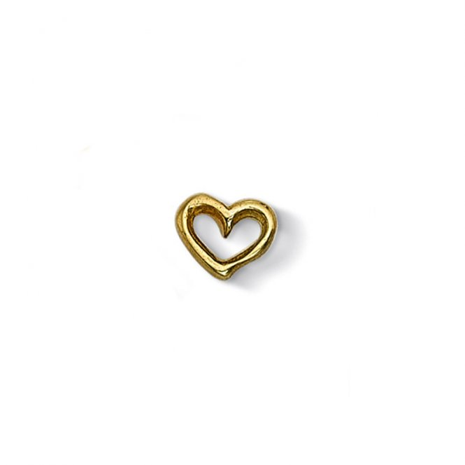 Dower & Hall Cherish Gold Heart Charm ~ CC5-V