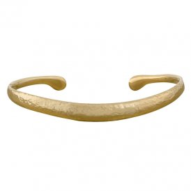 Dower & Hall Curved Torque Nomad Bangle - Gold ~ NBG1-V