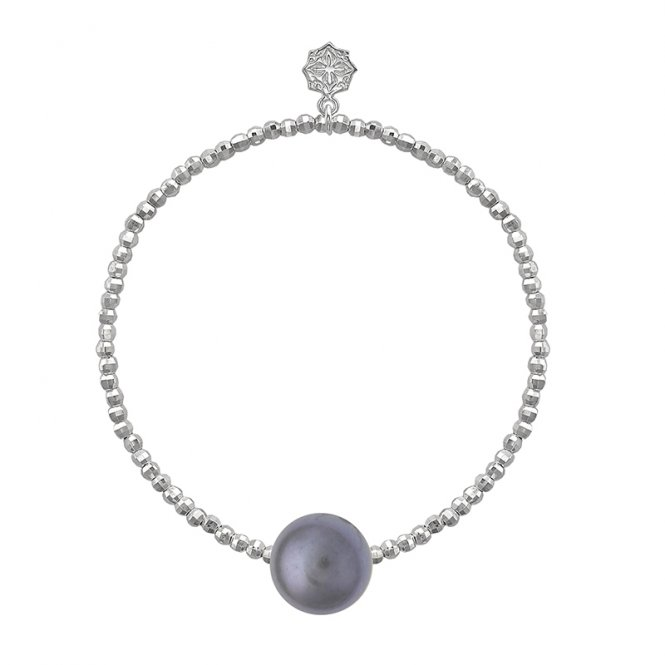 Dower & Hall Dove Grey Pearl Bracelet Silver ~ LUB80-S-DGP