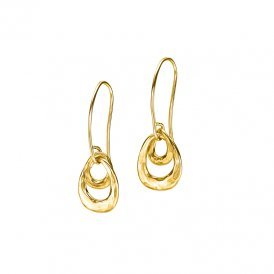 Dower & Hall Entwined Open Double Oval Earrings - Gold ~ EWE20-V