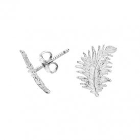 Dower & Hall Feather Silver Studs ~ FE10-S