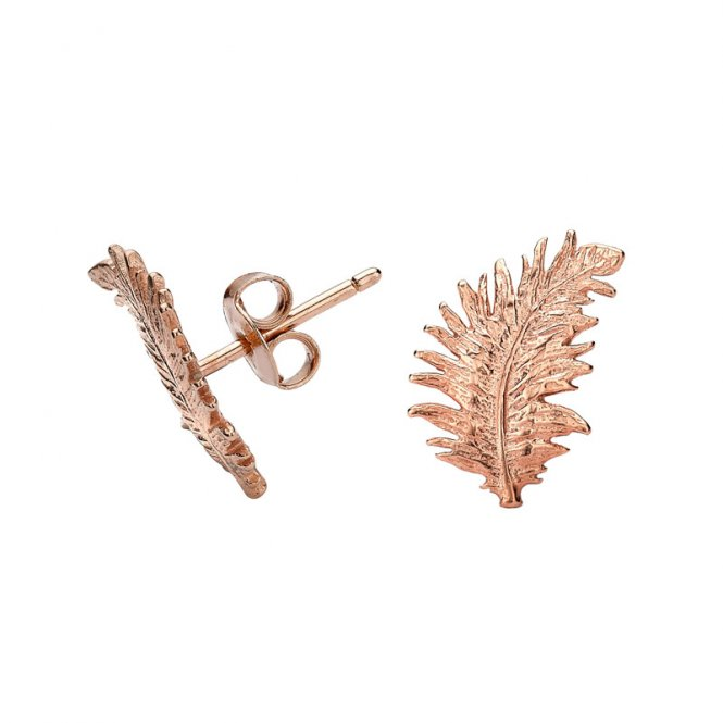 Dower & Hall Feather Studs Rose Gold ~ FE10-VR