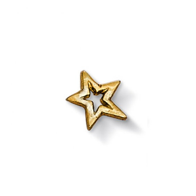 Dower & Hall Gold Open Star Charm ~ CC7-V