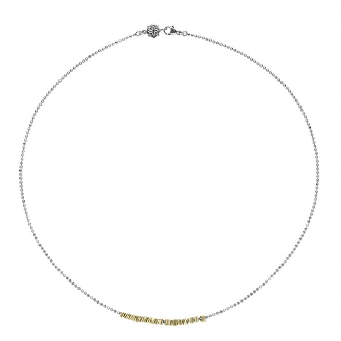 Dower & Hall Kubes Row Necklace Gold ~ NP250-S-V-18