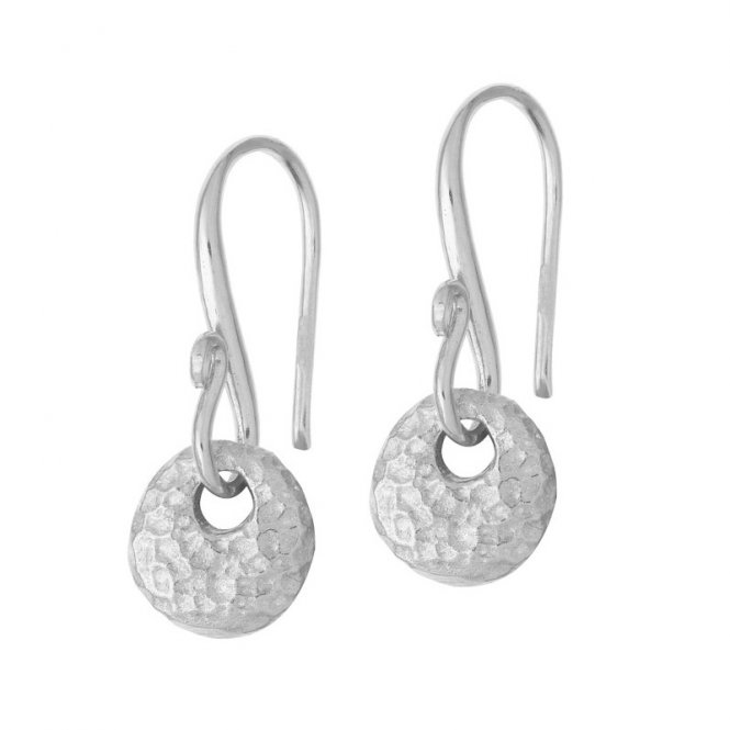 Dower & Hall Nomad Round Disc Silver Earrings ~ NE231-S