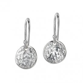 Dower & Hall Nomad Silver Disc Earrings ~ NE105-S