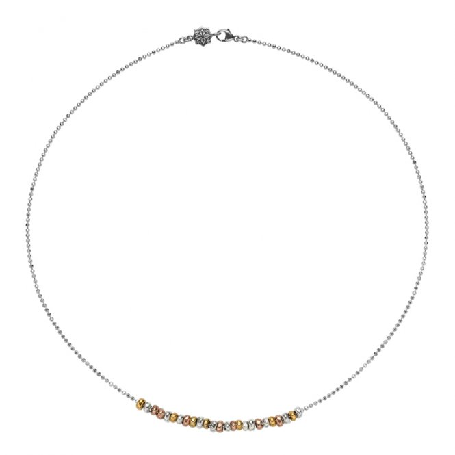 Dower & Hall Nugget Row Necklace Mixed ~ NP335-S-V-VR-18
