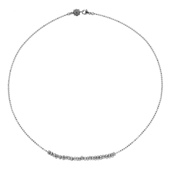 Dower & Hall Nugget Row Necklace Silver ~ NP235-S-18