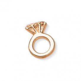 Dower & Hall Rose Gold Engagement Ring Charm ~ CC26-VR