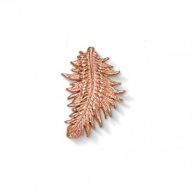 Dower & Hall Rose Gold Large Feather Charm ~ CC166-VR