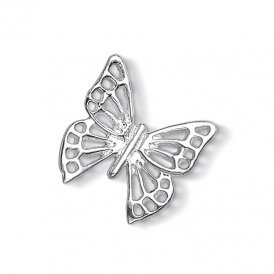 Dower & Hall Silver Large Open Butterfly Charm ~ CC246-S