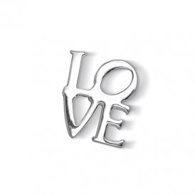 Dower & Hall Silver Love Charm ~ CC235-S