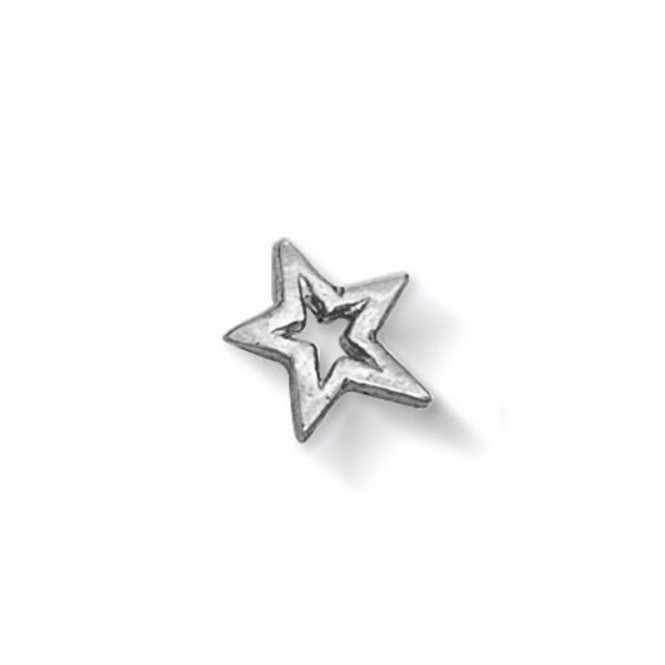 Dower & Hall Silver Open Star Charm ~ CC7-S