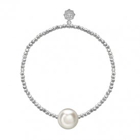 Dower & Hall Silver White Pearl Bracelet ~ LUB80-S-WP