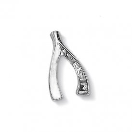 Dower & Hall Silver Wishbone Charm ~ CC243-S