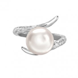 Dower & Hall Twisted Pearl Ring White M ~ LUR4-S-WP-M