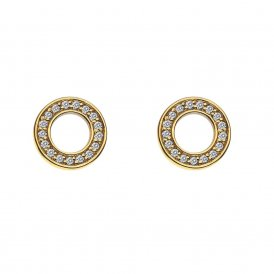 Emozioni Saturno Yellow Gold Plated Earrings ~ DE410