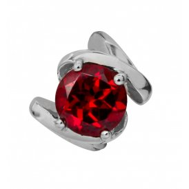Endless Garnet Energy Silver Charm ~ 21403