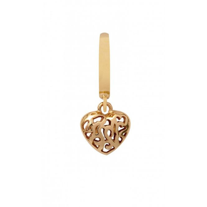 Endless Hearts in Hearts Gold Hanging Charm ~ 35251