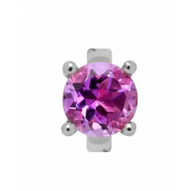 Endless Round Amethyst Silver Charm ~ 21354
