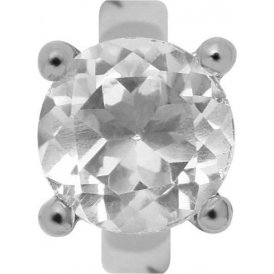 Endless Round Crystal Quartz Charm ~ 21303
