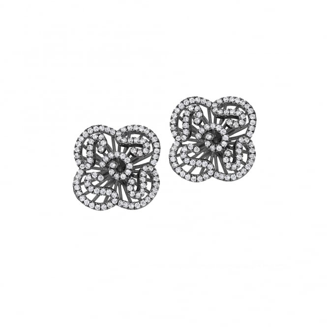 Fei Liu Cascade Mini Cascade Stud Earrings In Black ~ CAS-925B-204-CZ00