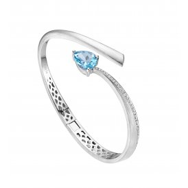 Fei Liu Shooting Star Bangle Blue Topaz ~ STR-925R-401-BTCZ