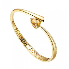 Fei Liu Shooting Star Bangle Citrine ~ STR-925G-401-CTCZ