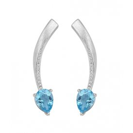 Fei Liu Shooting Star Earrings Blue Topaz ~ STR-925R-201-BTCZ