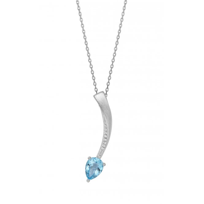 Fei Liu Shooting Star Pendant Blue Topaz ~ STR-925R-301-BTCZ