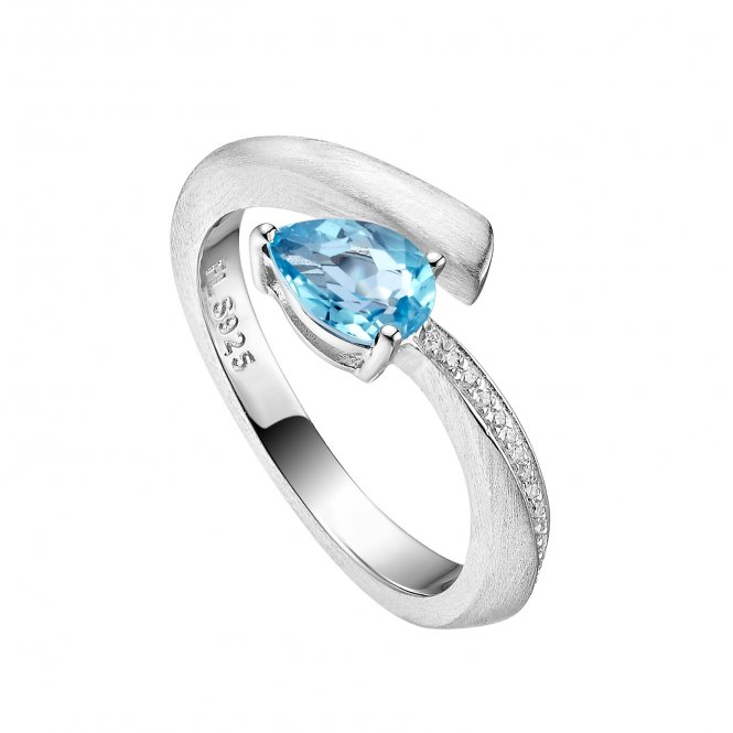 Fei Liu Shooting Star Ring Blue Topaz ~ STR-925R-001-BTCZ
