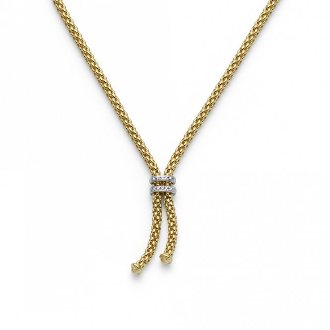 Fope Maori Necklace - Yellow Gold/Diamond - 42cm ~ 809BBR-GB