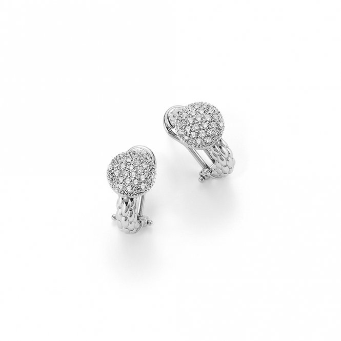 Fope Solo Earrings - White Gold/Diamond ~ OR647PAVE-B