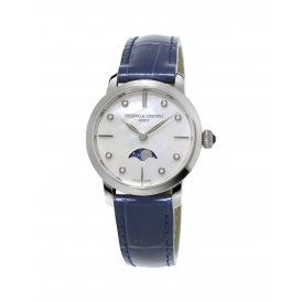 Frederique Constant Slimline Moonphase Ladies Watch ~ FC-206MPWD1S6