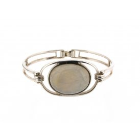 Silver Moonstone Bangle ~ CWS-MS-BNG-SIL-001