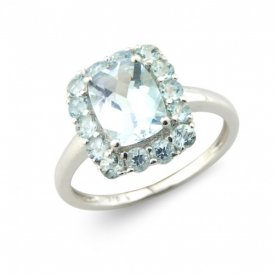 White Gold Aquamarine Ring N