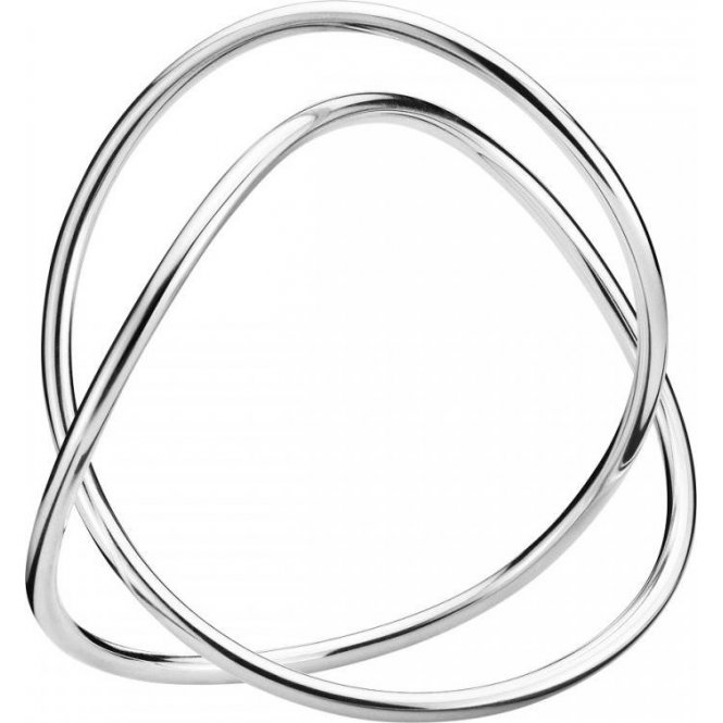 Georg Jensen Alliance Bangle - Silver - Medium ~ 3531267