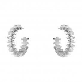 Georg Jensen Archive Silver Hoop Earrings