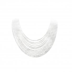 Georg Jensen Aria Silver Layered Necklace ~ 3533043