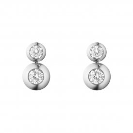 Georg Jensen Aurora White Gold Diamond Drop Earrings