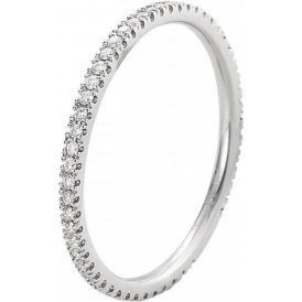 Georg Jensen Classique White Gold Diamond Ring 52 ~ 3571465