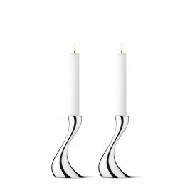 Georg Jensen Cobra Polished Steel Small Candlesticks ~ 3586694