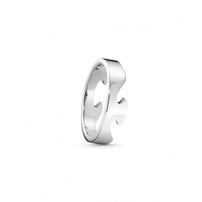 Georg Jensen Fusion White Gold End Ring 53 ~ 3546000-53